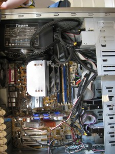 Alter PC Innen Mainboard