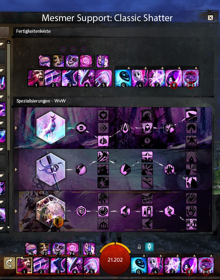 WvW Support Mesmer Classic Shatter Build