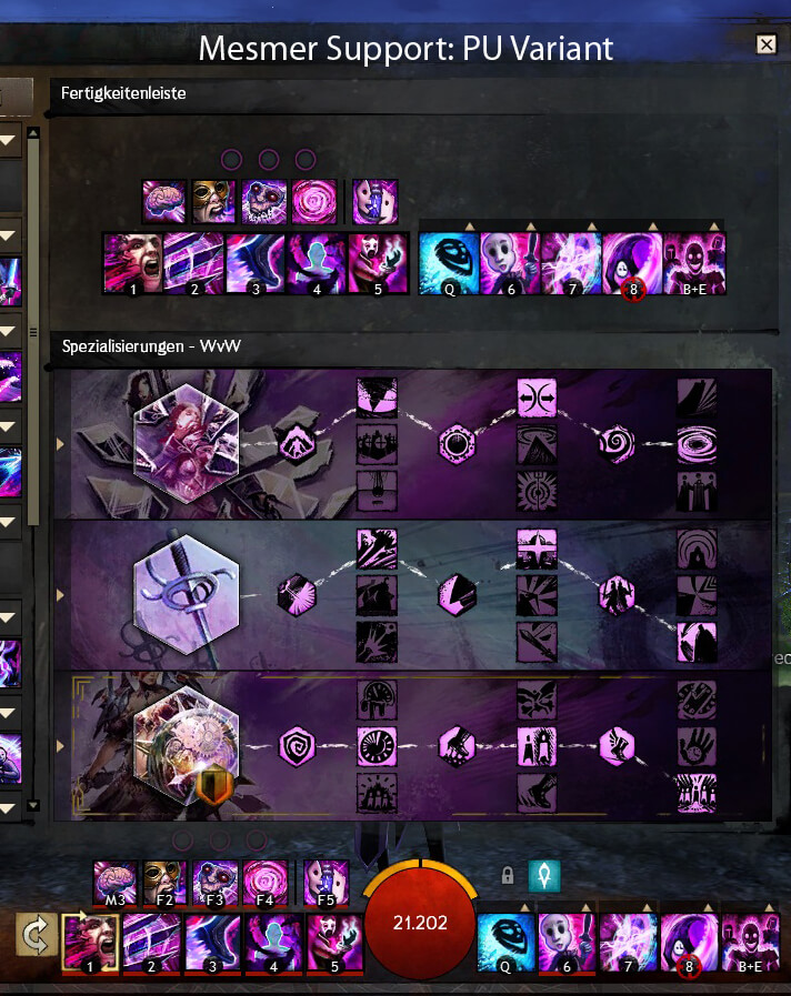WvW Support Mesmer PU Variante Build